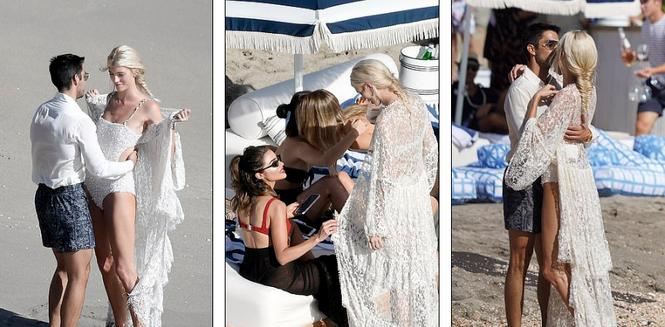 Thiên thần nội y mặc áo tắm nồng nàn bên hôn phu trước ngày cưới - ảnh 11
