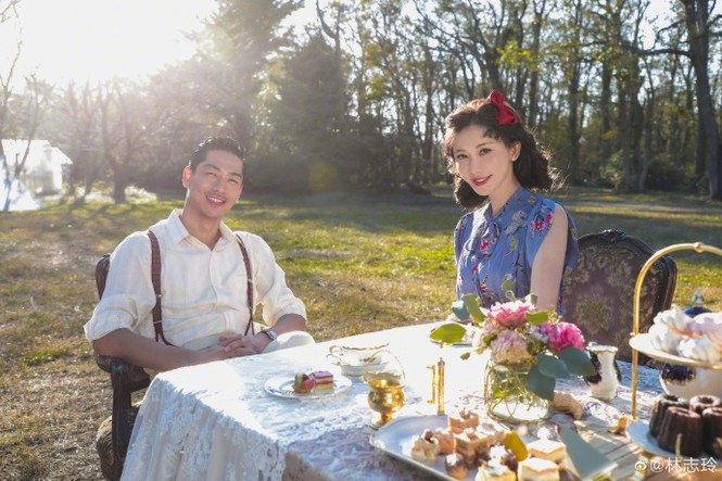 Siêu mẫu xứ Đài Lâm Chí Linh say đắm bên chồng trẻ sau kết hôn - ảnh 4