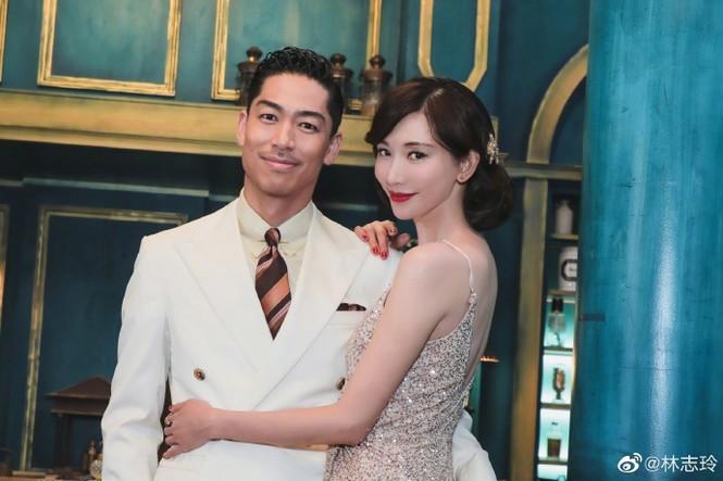 Siêu mẫu xứ Đài Lâm Chí Linh say đắm bên chồng trẻ sau kết hôn - ảnh 1