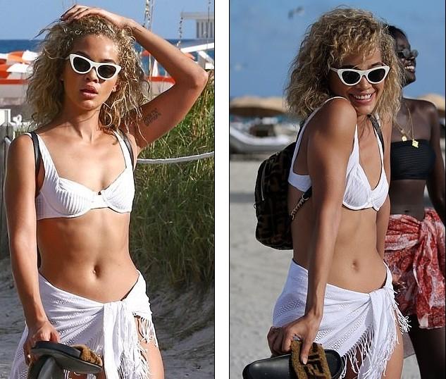Jasmine Sanders phô diễn đường cong tròn trịa trên biển Miami - ảnh 3