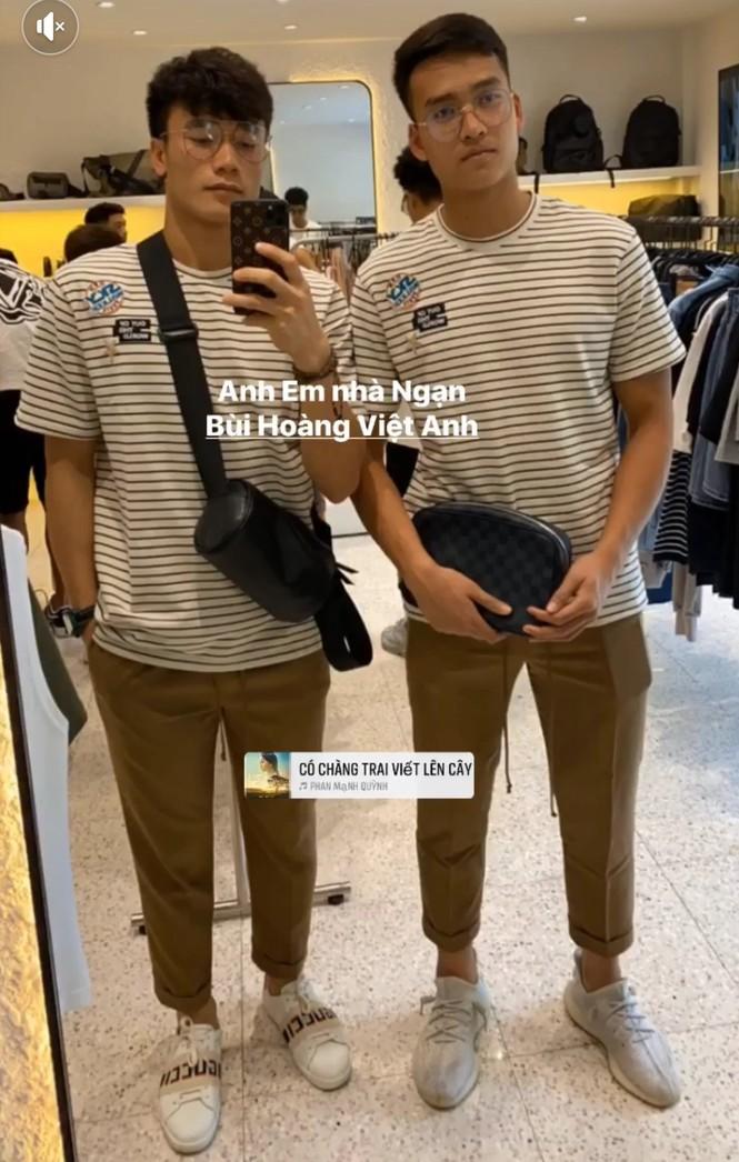 Đoàn Văn Hậu, Đức Chinh và cầu thủ nữ Hoàng Thị Loan đua trend 'Mắt biếc' - ảnh 4
