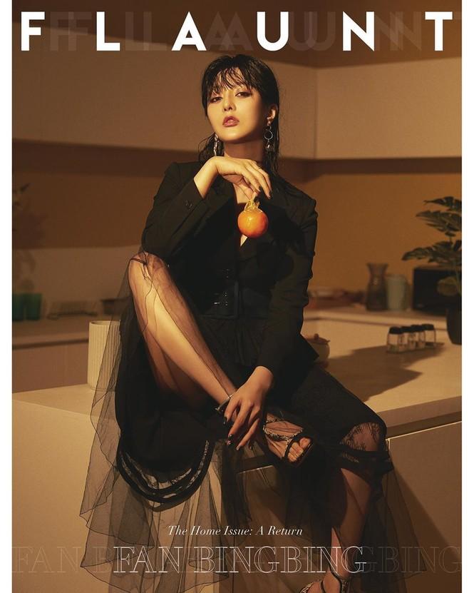 Phạm Băng Băng cực chất, hở ngực táo bạo trên tạp chí đầu năm - ảnh 1