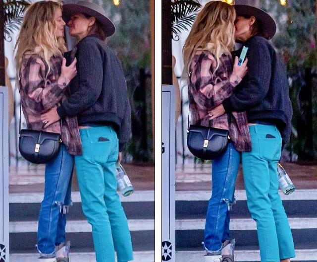 Vợ cũ 'cướp biển' Johnny Depp gây sốc với nụ hôn đồng giới - ảnh 1