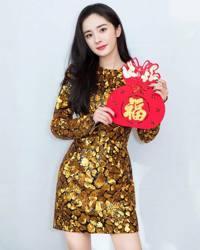 Lưu Gia Linh, Dương Mịch, Angelababy rạng ngời đón xuân - ảnh 9