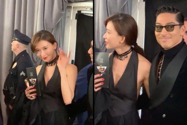 Lâm Chí Linh mặc áo xẻ ngực gợi cảm cùng chồng trẻ dự Grammy - ảnh 2