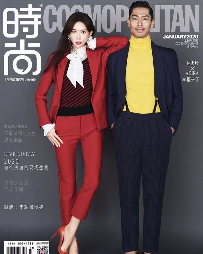 Lâm Chí Linh mặc áo xẻ ngực gợi cảm cùng chồng trẻ dự Grammy - ảnh 4