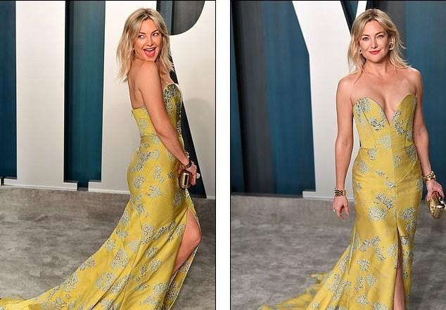 Kate Hudson 40 tuổi trẻ đẹp siêu gợi cảm với đầm hở ngực sâu - ảnh 4