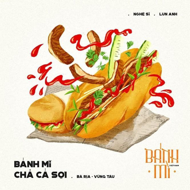 Bộ tranh vẽ bánh mì Việt Nam khiến dân mạng 'phát thèm' - ảnh 10