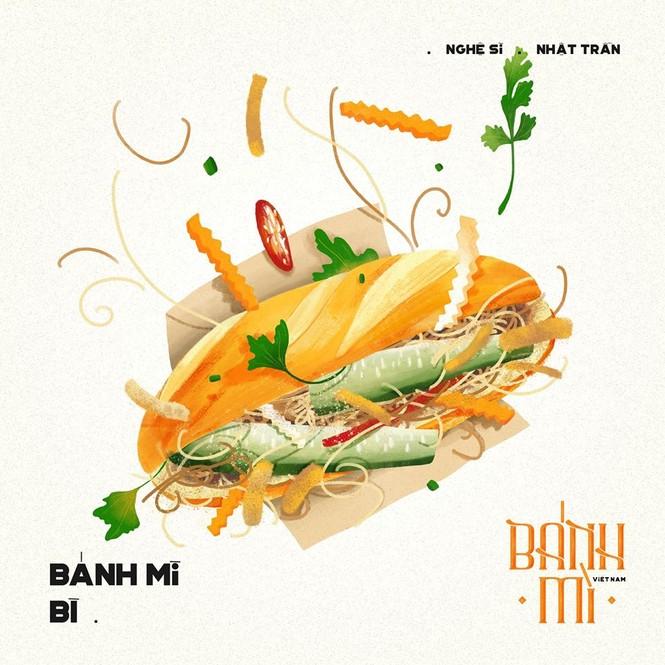 Bộ tranh vẽ bánh mì Việt Nam khiến dân mạng 'phát thèm' - ảnh 6