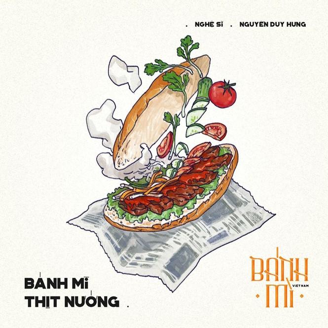 Bộ tranh vẽ bánh mì Việt Nam khiến dân mạng 'phát thèm' - ảnh 4