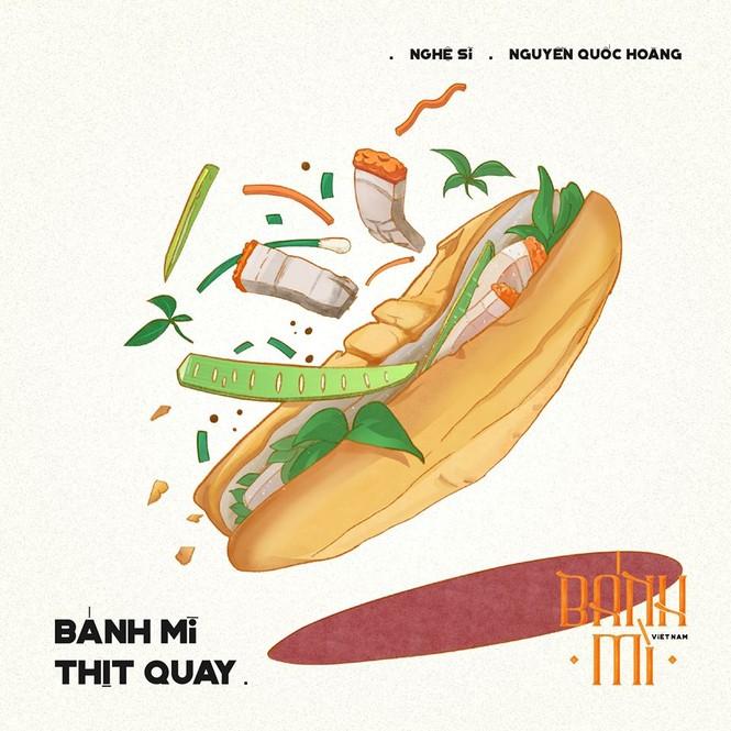 Bộ tranh vẽ bánh mì Việt Nam khiến dân mạng 'phát thèm' - ảnh 5