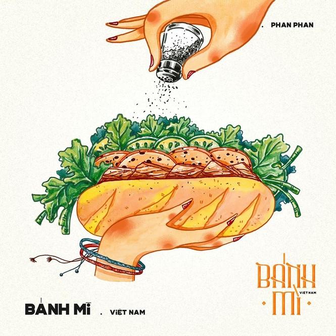 Bộ tranh vẽ bánh mì Việt Nam khiến dân mạng 'phát thèm' - ảnh 1