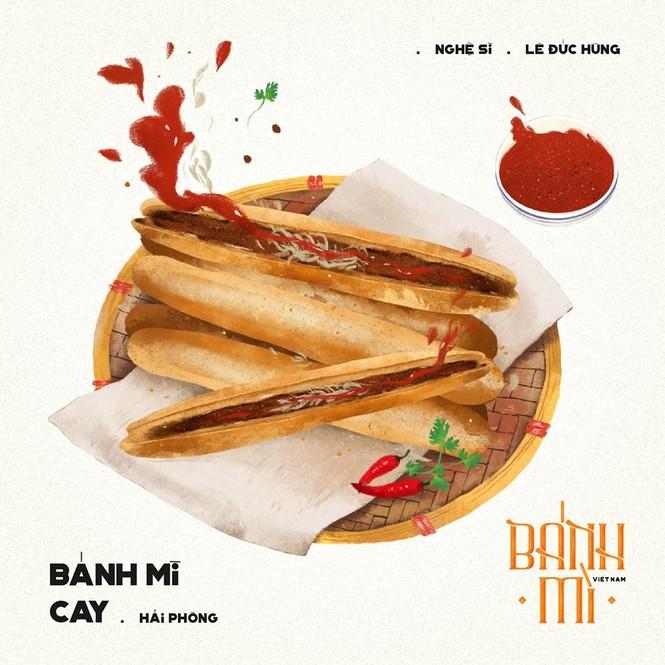 Bộ tranh vẽ bánh mì Việt Nam khiến dân mạng 'phát thèm' - ảnh 2