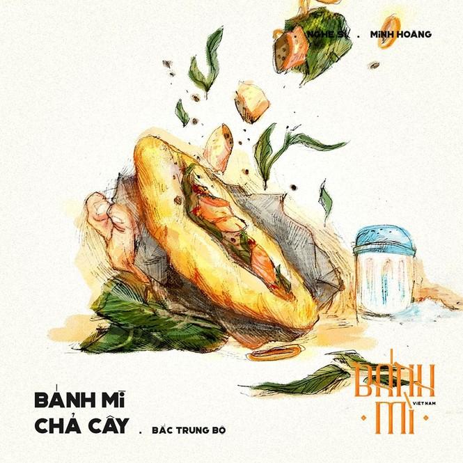 Bộ tranh vẽ bánh mì Việt Nam khiến dân mạng 'phát thèm' - ảnh 3