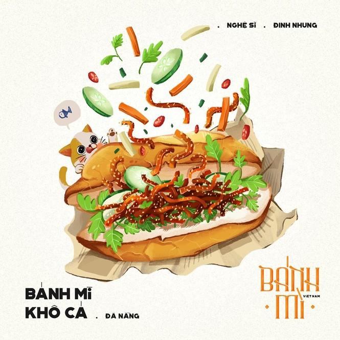 Bộ tranh vẽ bánh mì Việt Nam khiến dân mạng 'phát thèm' - ảnh 12