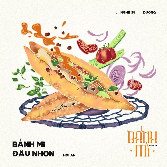 Bộ tranh vẽ bánh mì Việt Nam khiến dân mạng 'phát thèm' - ảnh 13
