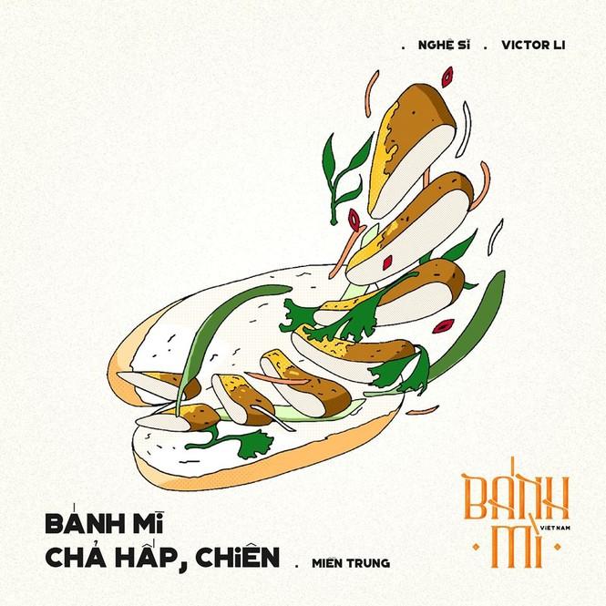 Bộ tranh vẽ bánh mì Việt Nam khiến dân mạng 'phát thèm' - ảnh 14