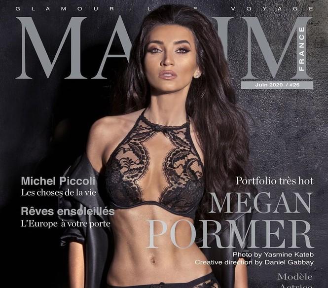 Người đẹp 9x Megan Pormer hững hờ che ngực trần trên bìa Maxim - ảnh 2