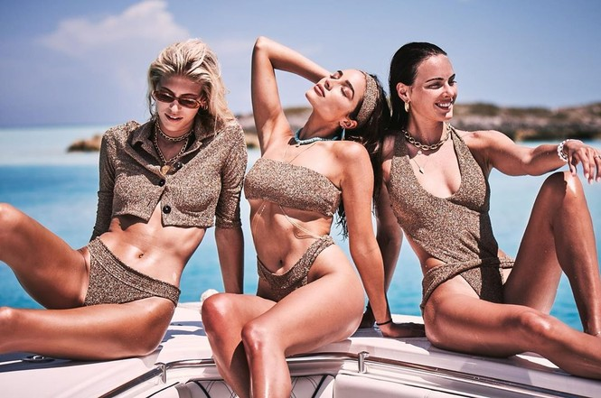 Say đắm sắc vóc tuyệt mỹ của ba mỹ nhân áo tắm trên biển - ảnh 1