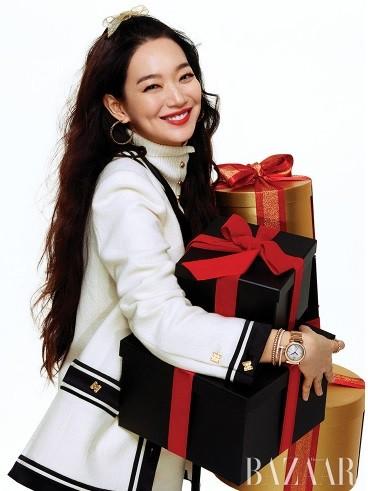 'Hồ ly 9 đuôi' Shin Min Ah đẹp xuất sắc đón Giáng sinh - ảnh 7