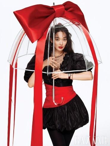 'Hồ ly 9 đuôi' Shin Min Ah đẹp xuất sắc đón Giáng sinh - ảnh 3