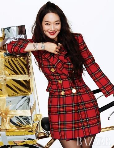 'Hồ ly 9 đuôi' Shin Min Ah đẹp xuất sắc đón Giáng sinh - ảnh 4