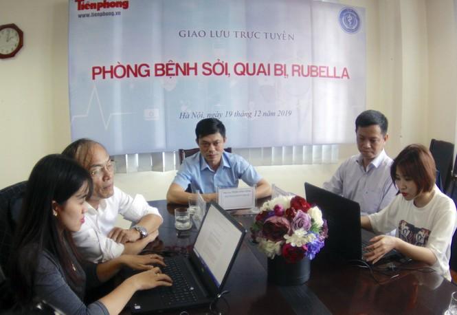 Giao lưu trực tuyến: Phòng chống bệnh Sởi - Quai bị - Rubella - ảnh 2