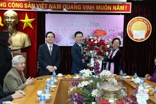 Ban Tuyên giáo Trung ương, Võ Văn Thưởng, Nguyễn Thị Bình, nguyên Phó chủ tịch nước, ộ trưởng Giáo dục Phạm Minh Hạc - ảnh 1
