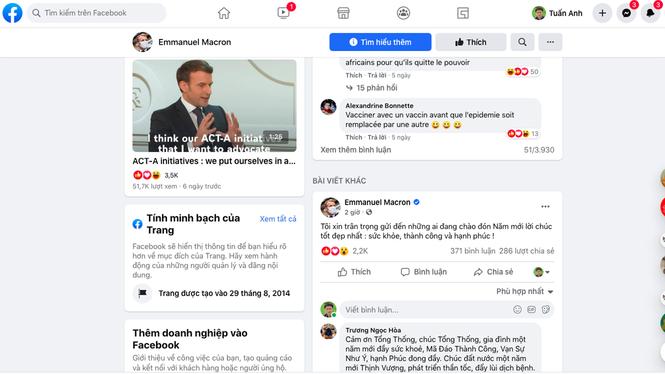 Tổng thống Pháp chúc Tết bằng tiếng Việt - ảnh 1