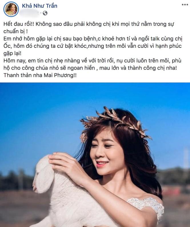 Hồ Ngọc Hà hé lộ tin nhắn cuối cùng của Mai Phương dành cho mình - ảnh 2