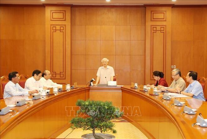 Tổng Bí thư, Chủ tịch nước chủ trì họp Tiểu ban Nhân sự Đại hội XIII của Đảng - ảnh 1