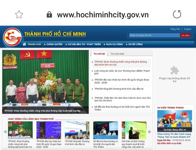 Hàng loạt website thuộc UBND TPHCM gặp sự cố, không thể truy cập - ảnh 1