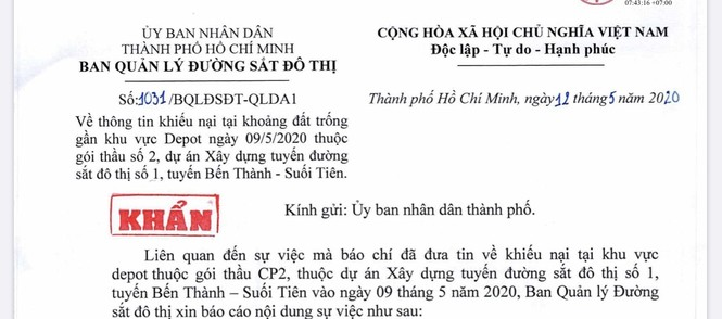 Ban quản lý đường sắt đô thị báo cáo UBND TPHCM vụ nhà thầu Việt bị 'bắt nạt' - ảnh 1