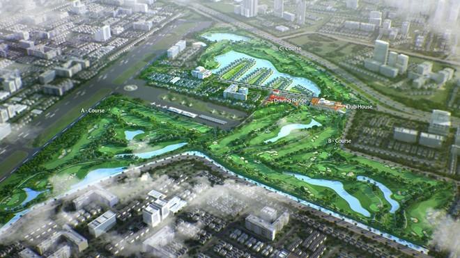 Sân golf 1.500 tỷ ở Hà Nội nhìn từ trên cao - ảnh 14