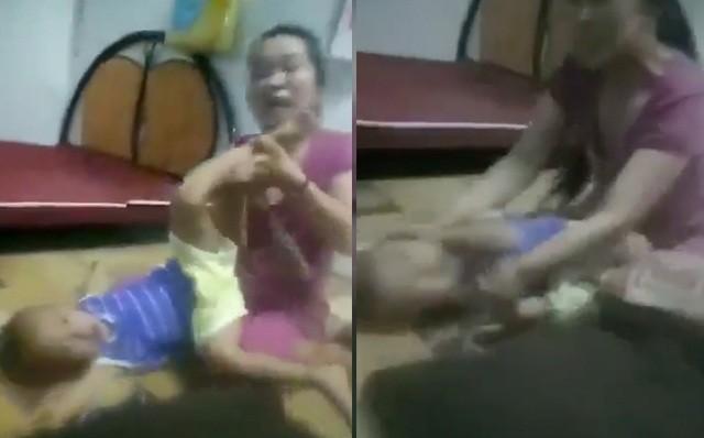 Tạm giữ người mẹ cột dây vào cổ con trai, bạo hành dã man - ảnh 2