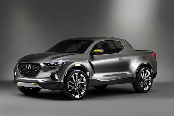 Bán tải Hyundai Santa Cruz lộ ảnh chạy thử - ảnh 1