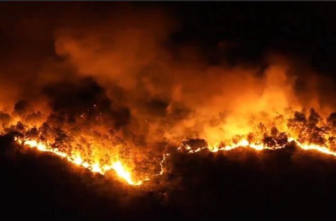Hình ảnh mới nhất vụ cháy núi Hồng - ảnh 1
