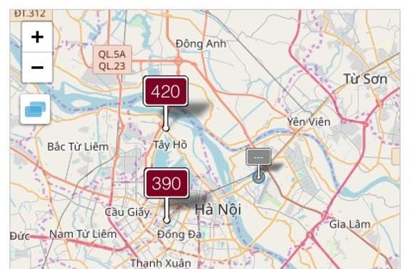 ô nhiễm không khí hà nội - ảnh 1