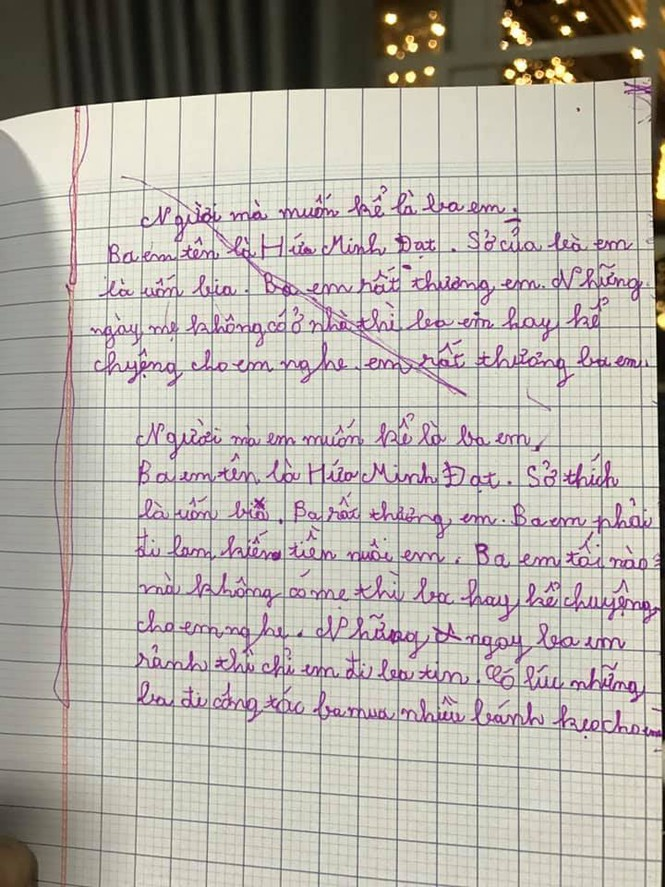 Người hâm mộ đua nhau share lá thư của con trai Lâm Vỹ Dạ - ảnh 2