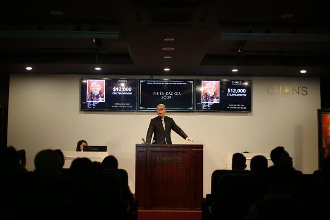 Tranh vẽ HLV Park Hang-Seo trị giá 22.500 USD qua 2 lần đấu giá - ảnh 1