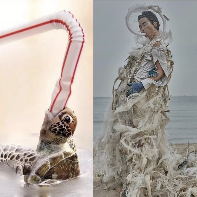 Biến rác thải thành thời trang, tái hiện nỗi đau trước khi chết của sinh vật biển - ảnh 7