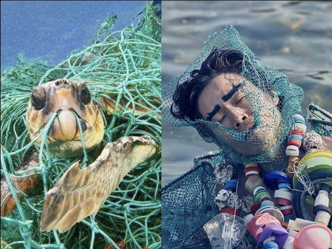 Biến rác thải thành thời trang, tái hiện nỗi đau trước khi chết của sinh vật biển - ảnh 6