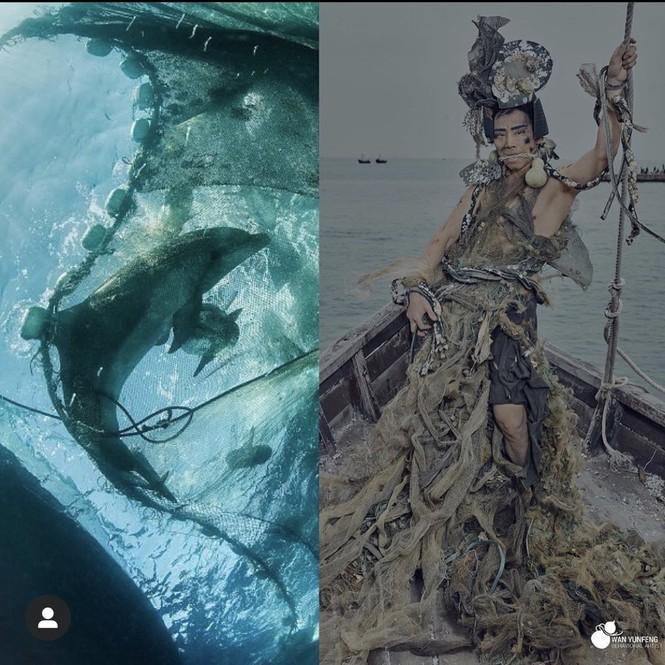 Biến rác thải thành thời trang, tái hiện nỗi đau trước khi chết của sinh vật biển - ảnh 4
