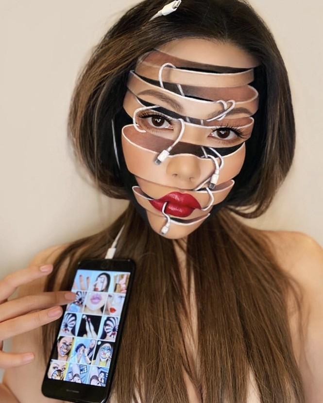 """""""Phù thủy make-up"""" Canada và phong cách trang điểm ảo ảnh thị giác - ảnh 4"""