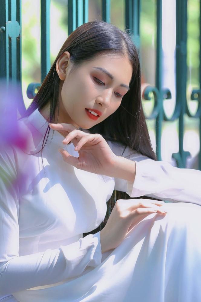 Hoa khôi Học viện Phụ nữ Việt Nam tinh khôi trong bộ ảnh áo dài - ảnh 5