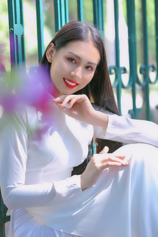 Hoa khôi Học viện Phụ nữ Việt Nam tinh khôi trong bộ ảnh áo dài - ảnh 3