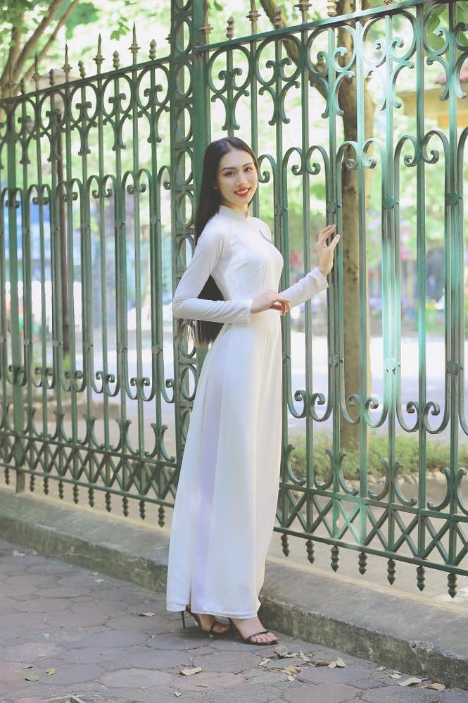 Hoa khôi Học viện Phụ nữ Việt Nam tinh khôi trong bộ ảnh áo dài - ảnh 8