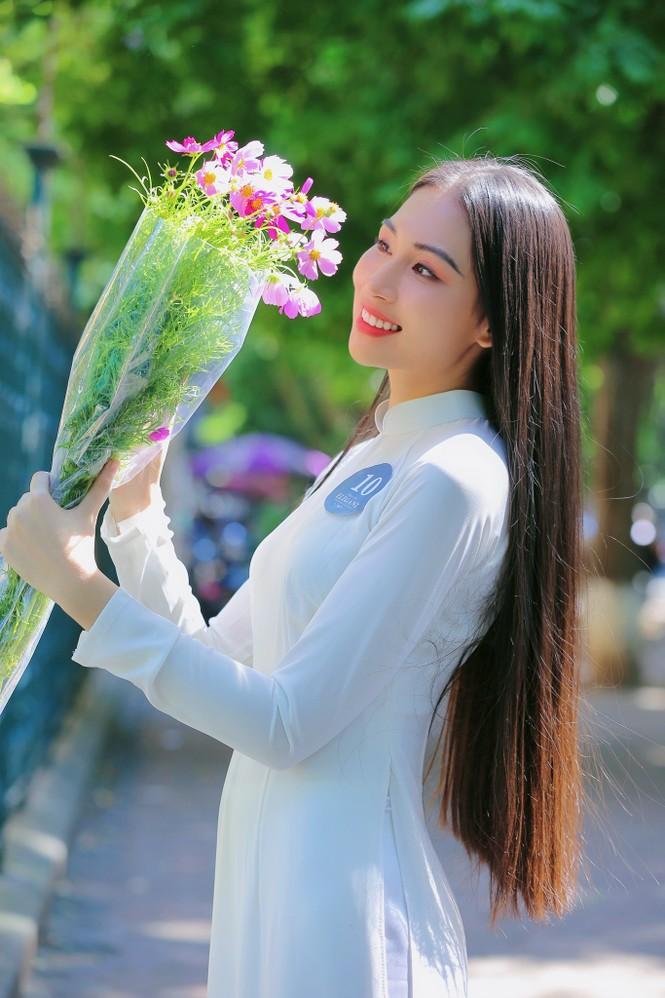 Hoa khôi Học viện Phụ nữ Việt Nam tinh khôi trong bộ ảnh áo dài - ảnh 11