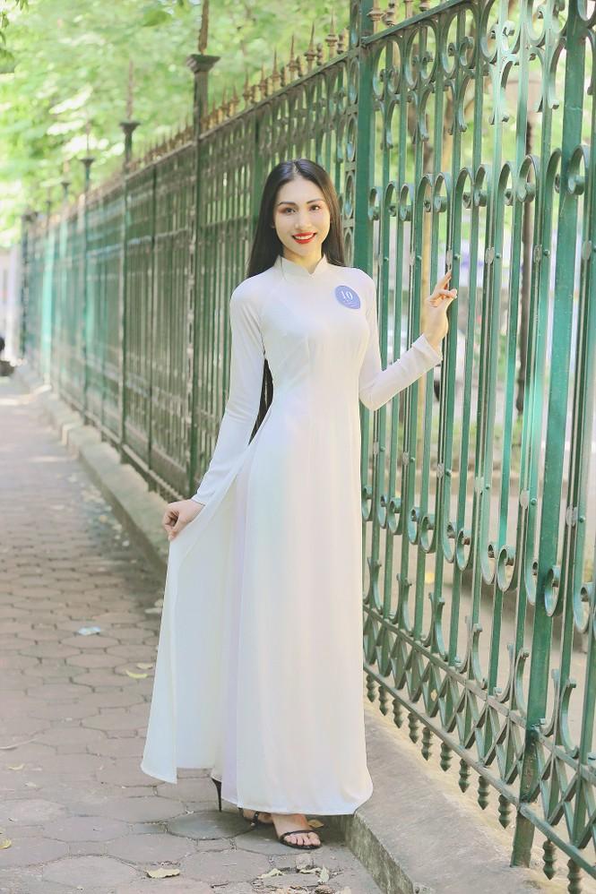 Hoa khôi Học viện Phụ nữ Việt Nam tinh khôi trong bộ ảnh áo dài - ảnh 2