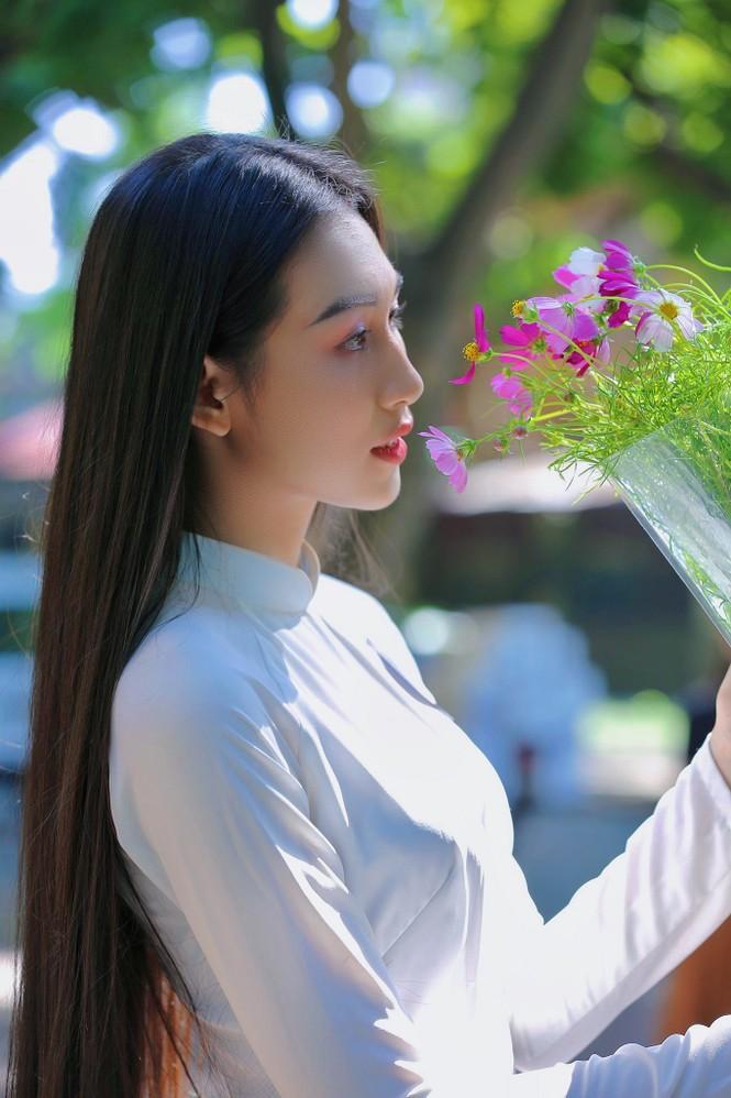 Hoa khôi Học viện Phụ nữ Việt Nam tinh khôi trong bộ ảnh áo dài - ảnh 13